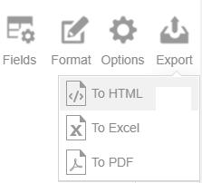 Export reports